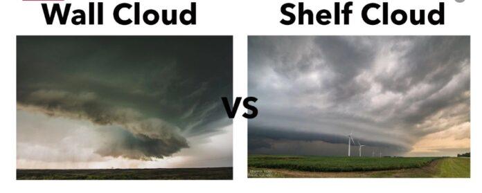 Πολλές φορές τα σύννεφα ραφιών αναφέρονται ως σύννεφα τοίχων. Το σημερινό ιστορικό καιρού εξετάζει τη διαφορά μεταξύ ενός cloud shelf και ενός cloud wall. Έτσι, την επόμενη φορά που θα δείτε ένα από αυτά τα χαρακτηριστικά, θα καταλάβετε καλύτερα τι είναι το κεφάλι σας.