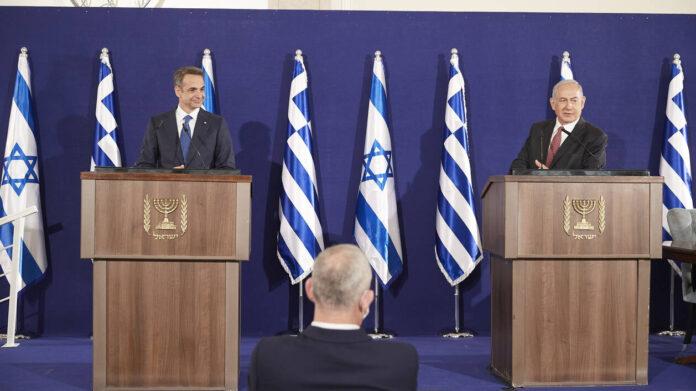 Επίσημο δείπνο προς τιμήν του Έλληνα πρωθυπουργού, Κυριάκου Μητσοτάκη, παρέθεσε στην οικία του ο πρωθυπουργός του Ισραήλ, Μπενιαμίν Νετανιάχου.