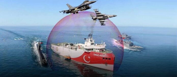 «Θόλο» προστασίας του Oruc Reis εξαγγέλλουν οι Τούρκοι - Ό,τι πλησιάσει στα 50 νμ θα χτυπηθεί